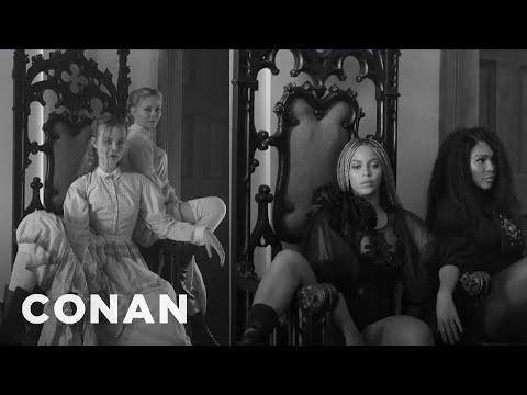 """Elle Fanning Got To Sit In Beyoncé's """"Lemonade"""" Chair  - CONAN on TBS"""