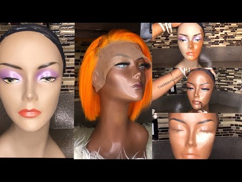 BEFORE AND AFTER   MANNEQUIN TRANSFORMATION WITH MAKEUP