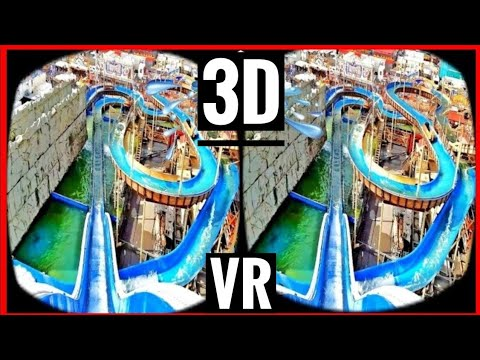 VR Videos 3D VR Roller Coaster 3D SBS WaterSlide VR 4K for VR BOX - Log Flume POV Ride