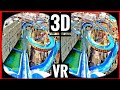 Water VR Roller Coaster 3D SBS VR VIDEO 4K [Google Cardboard] Oculus Gear VR Box | Log Flume Ride 3D
