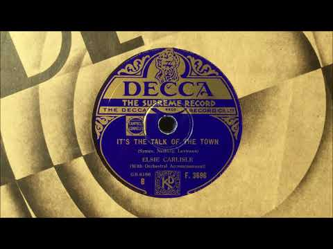 "Elsie Carlisle - ""It's the Talk of the Town"" (1933)"