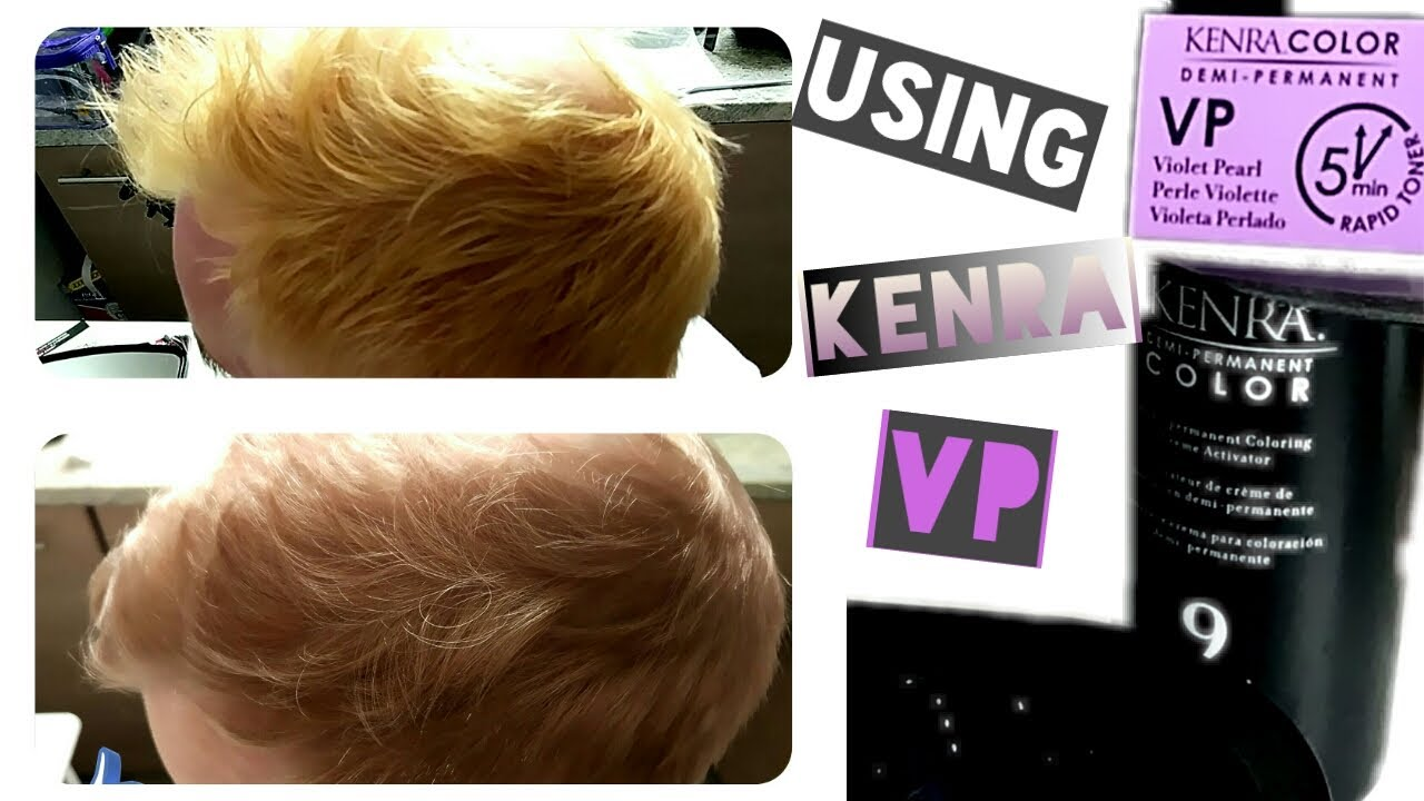 Kenra Vp 5min Hair Color Toner On My Boyfriends Hair At Home