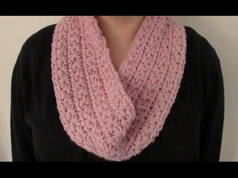 VERY EASY chunky crochet star stitch cowl / scarf / snood / infinity scarf tutorial