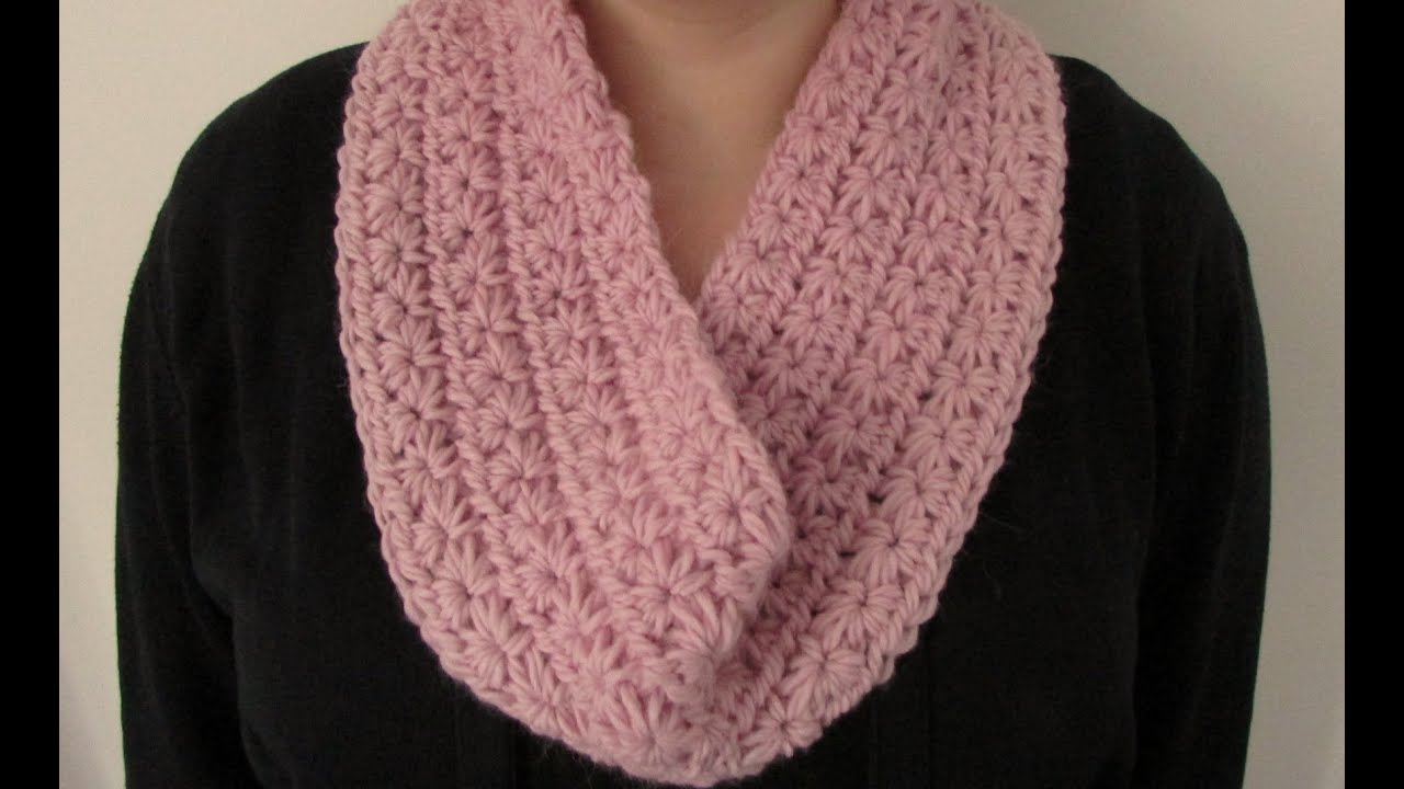 Youtube Crocheting A Scarf : EASY chunky crochet star stitch cowl / scarf / snood / infinity scarf ...