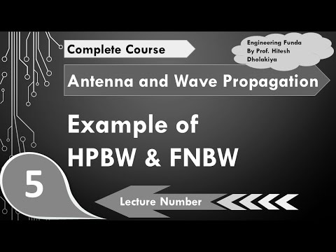 Example of HPBW- Half Power Beam Width & FNBW- First Null Beam Width in  Antenna by Engineering Funda