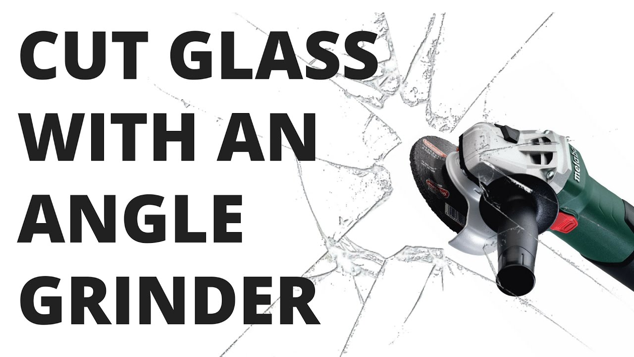 Cutting A Cat Door In Glass With Angle Grinder