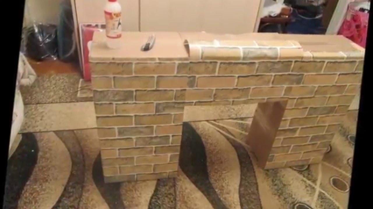 Декоративные камины из коробок своими руками фото