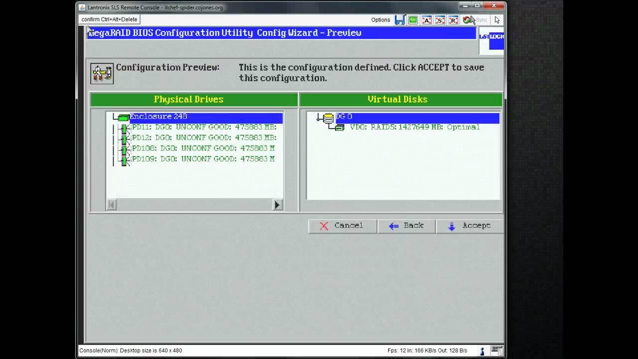 Configure LSI MegaRAID 8344ELP for RAID5