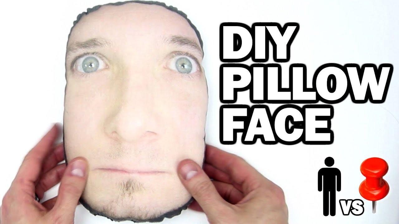 Man Shaped Pillow Diy Pillow Face Man Vs Pin 9 Youtube