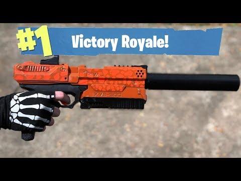 NERF Mod: Fortnite Battle Royale Suppressed Pistol Nerf Gun Mod IN REAL LIFE!