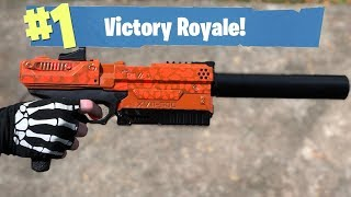 NERF Mod: Fortnite Battle Royale Suppressed Pistol Nerf Gun Mod IN REAL LIFE!