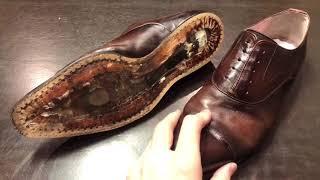 ボロボロの革靴がどこまで生き返るか。8 靴修理迷っている方に ~マッケイ製法のオールソール、クリーニング。日本の老舗革靴商社のオリジナルブランド
