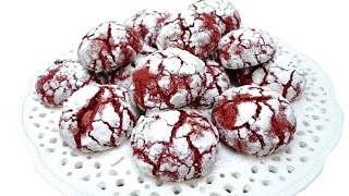 Red Velvet Crinkle Cookies Recipe By Cakesstepbystep