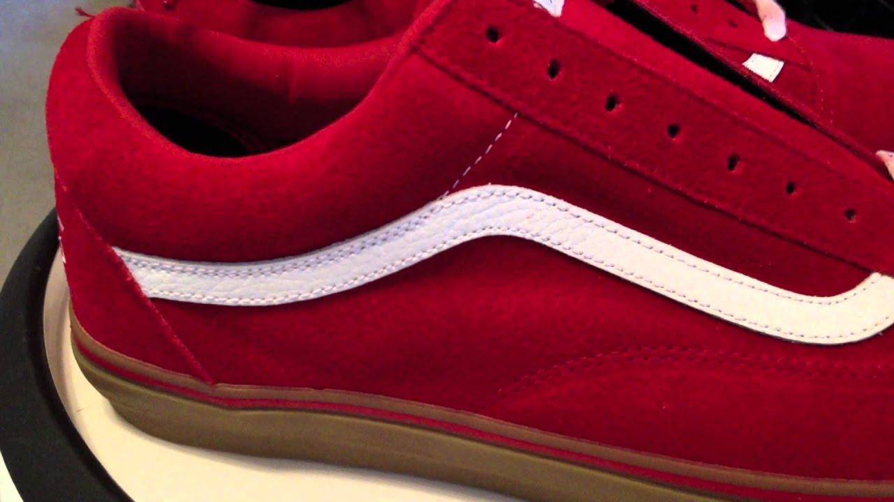 vans old skool golf wang red