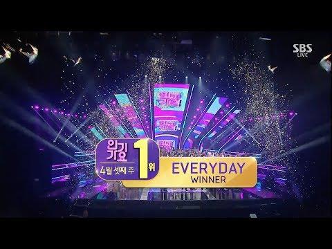 WINNER - 'EVERYDAY' 0415 SBS Inkigayo  NO.1 OF THE WEEK