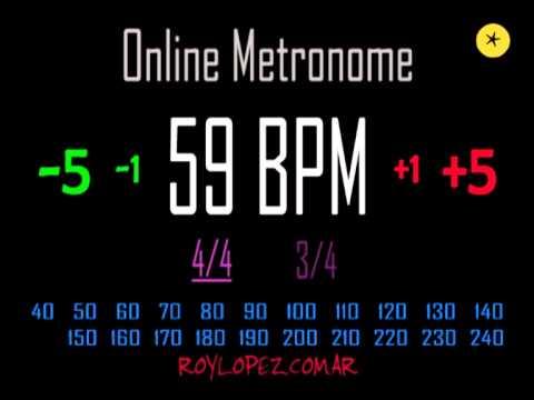 Metronomo Online - Online Metronome - 59 BPM 4/4 - YouTube