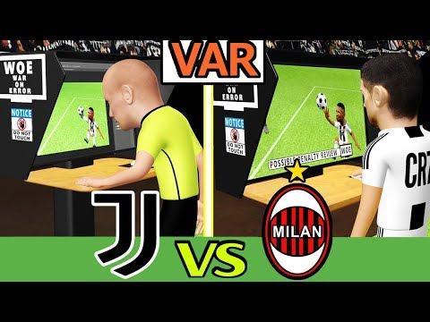 Juventus Vs Milan 2-1 | VAR Review + Unseen Footage | Parody