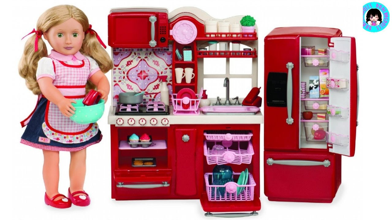 UNBOXING! OUR GENERATION Gourmet Kitchen Set I American ...