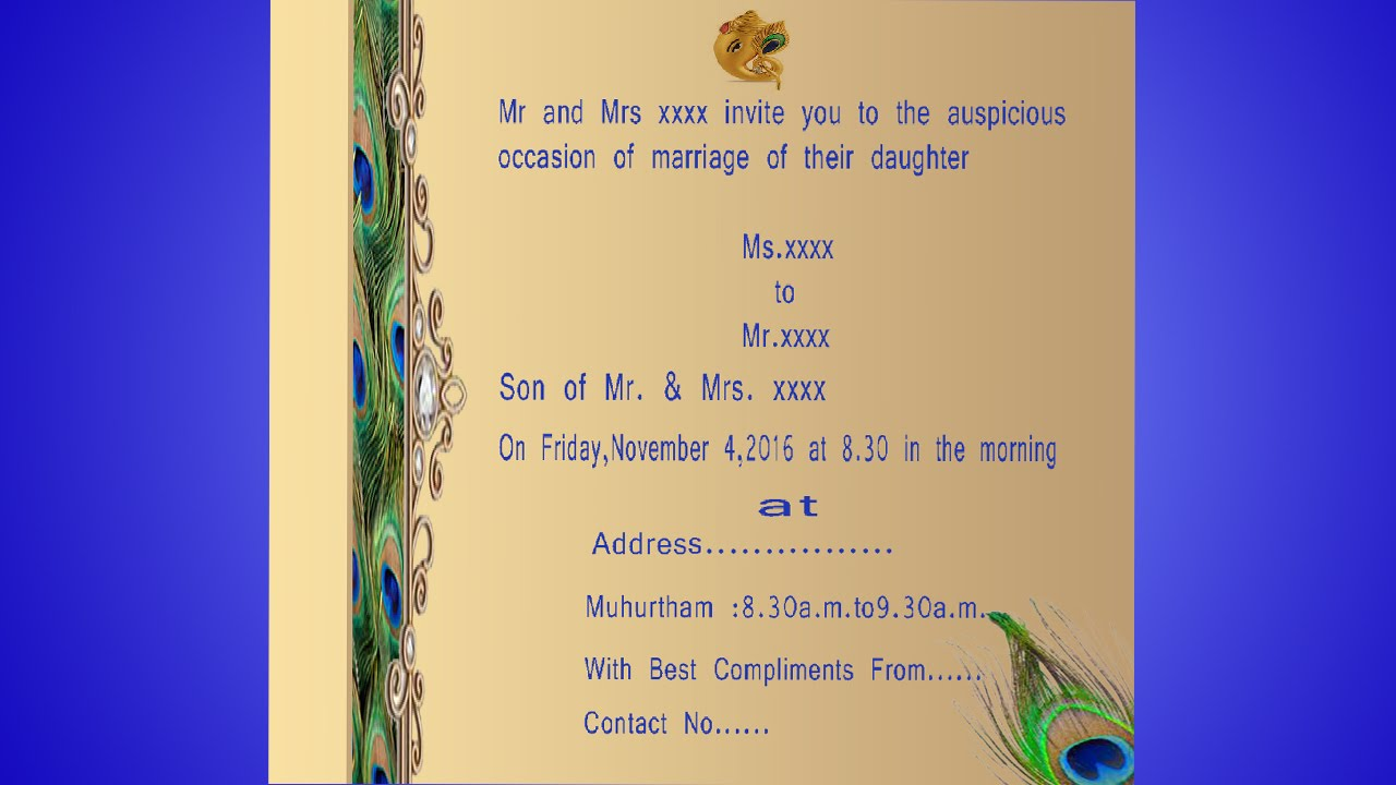 How to design a wedding invitation card in photoshop in tamil with how to design a wedding invitation card in photoshop in tamil with esubs stopboris Gallery