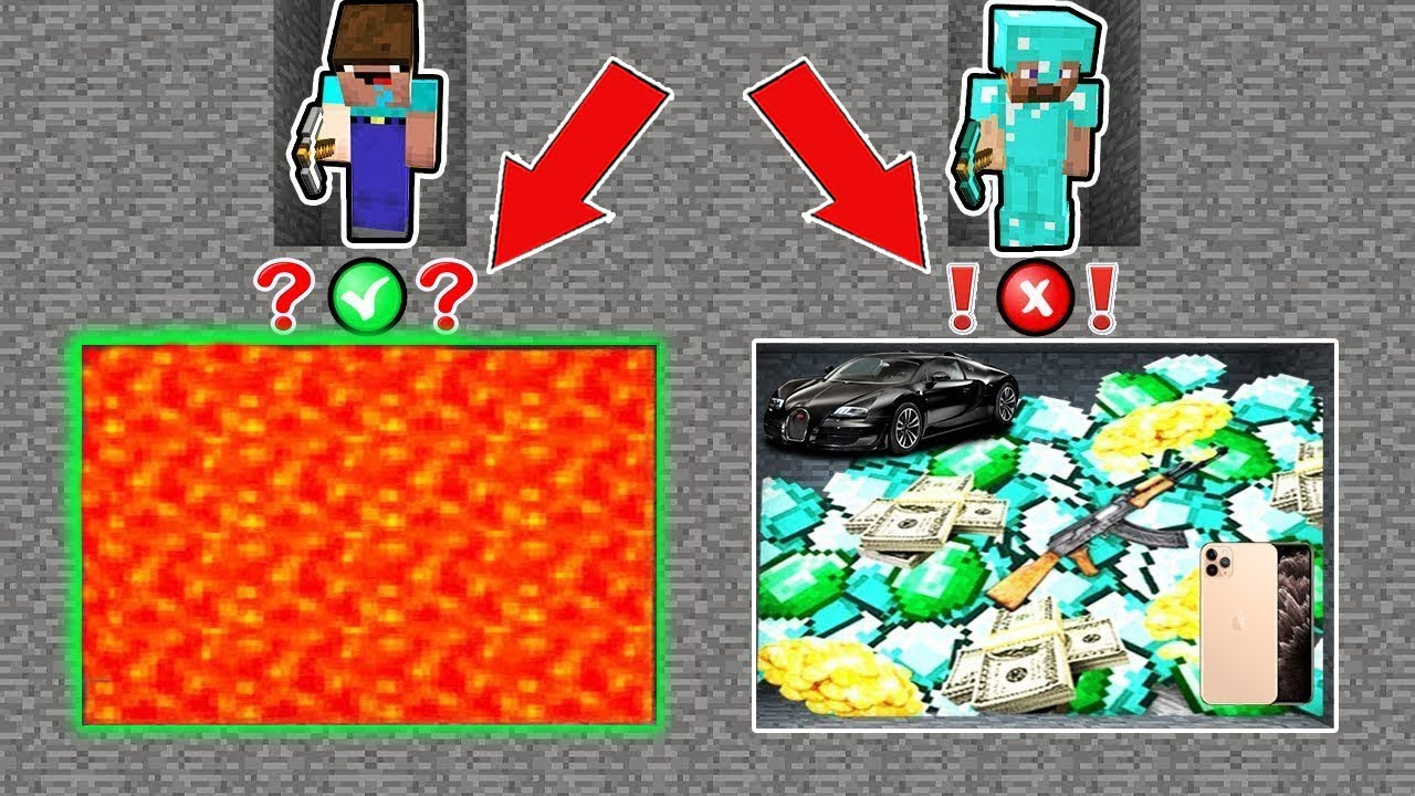 Minecraft NOOB vs PRO : WHO WILL FIND THE RIGHT MINE TREASURES? Challenge 100% trolling!