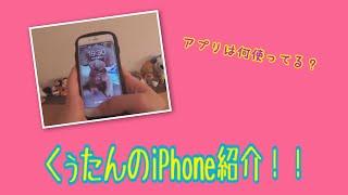 【くぅたんのiPhone紹介】iPhoneの中を見てみよう🤩