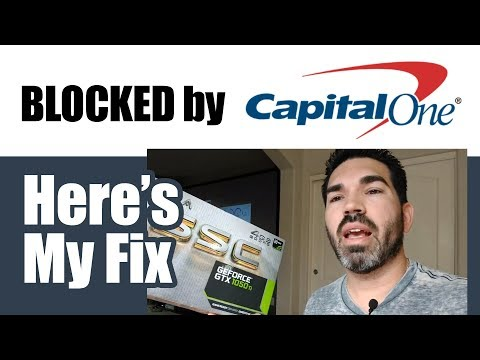 Capital One Blocked me from buying Bitcoin!