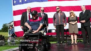 SPC Matt Leyva Home Dedication