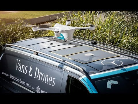Mercedes Vans & Drones Delivery - How It Works