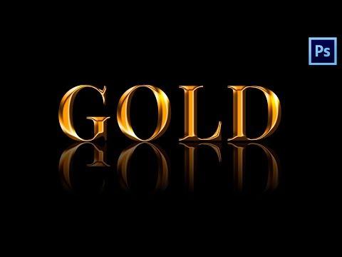 Эффект Золотого Текста в Фотошопе | Урок #10