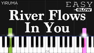 Yiruma - River Flows In You   SLOW EASY Piano Tutorial