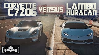 Corvette C7 Z06 vs. Lamborghini Huracan LP610-4 | Roll Race