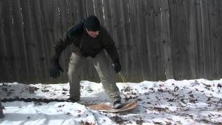 Plywood And Rope Sled