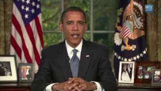 Obama urges us to end our addiction to fossil fuels (Peak Oil)