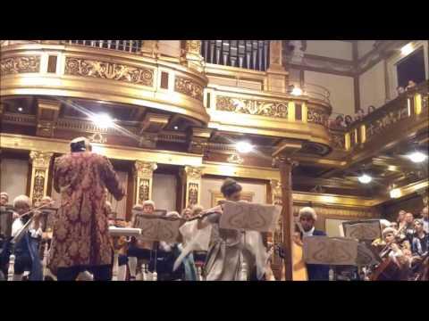 Karin Leitner & Duccio Lombardi play Mozart Flute & Harp Concerto (Period Costume)