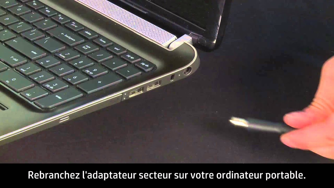 effectuer une reinitialisation materielle ou forcee de votre ordinateur portable hp