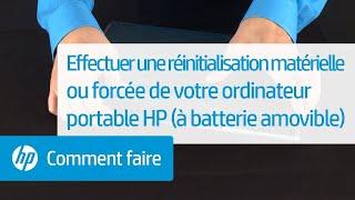 Effectuer une réinitialisation matérielle ou forcée de votre ordinateur portable HP