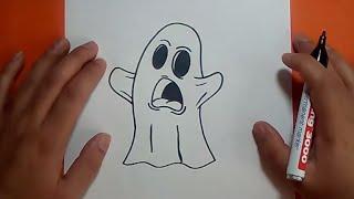 Como dibujar un fantasma paso a paso 9 | How to draw a ghost 9
