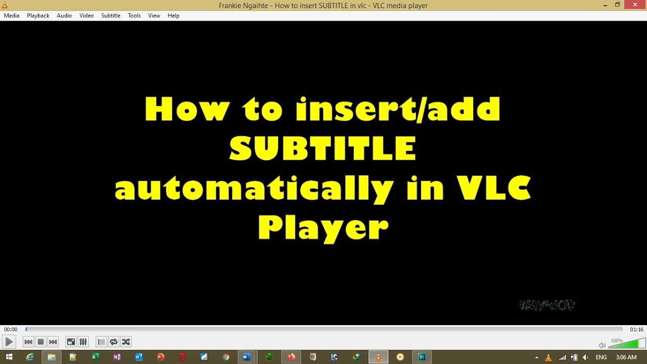 How to download subtitle automatically in VLC player - YouTube