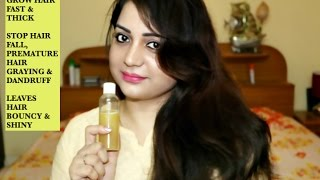 NATURAL HAIR GROWTH SERUM - Grow Hair Fast, Thick Hair, Stop Hair Fall, Hair Graying & Dandruff