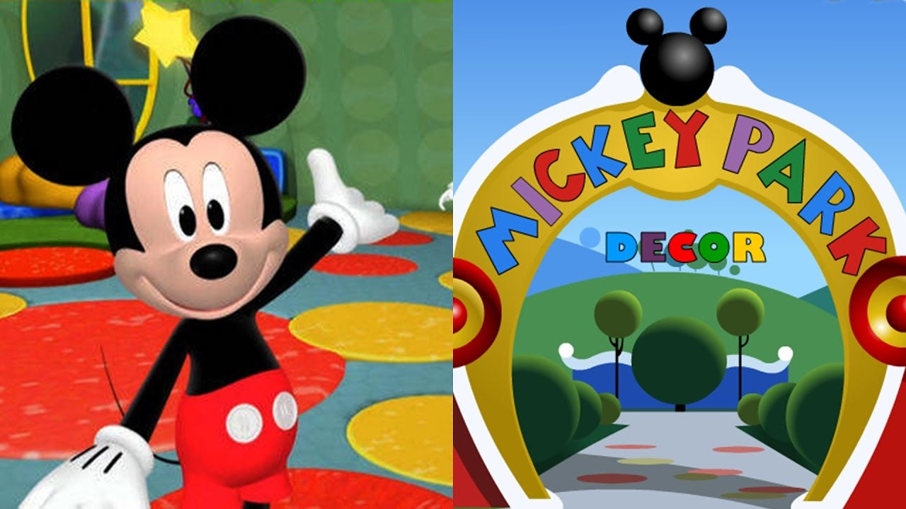 La casa de mickey mouse mickey park decoraci n youtube for Decoracion la casa de mickey mouse