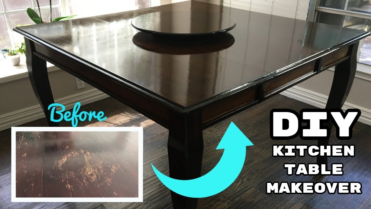 Refinishing Kitchen Table DIY Refinishing Kitchen table tutorial | Wood stripped, sanded, and stained