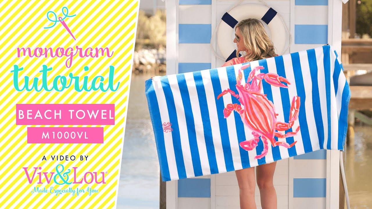how to monogram beach towels - Monogrammed Beach Towels