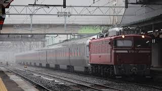 青い森鉄道 EF81形+E26形 回9110レ「カシオペア紀行」 盛岡駅到着 2019年6月16日