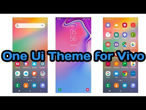 One Ui Theme for Vivo V9, V11, V15, Y81, Y91, Nex S, X21