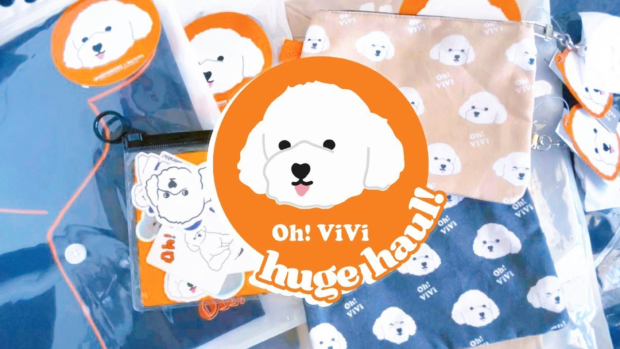 Unboxing Spao x Oh! Vivi Goods 오! 비비 콜라보 🐶 ♡ Clothing, Pajamas, Pouches, Stickers and More