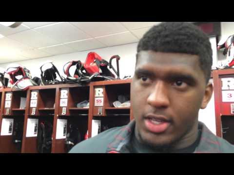 Rutgers defensive tackle Darius Hamilton after Wisconsin loss