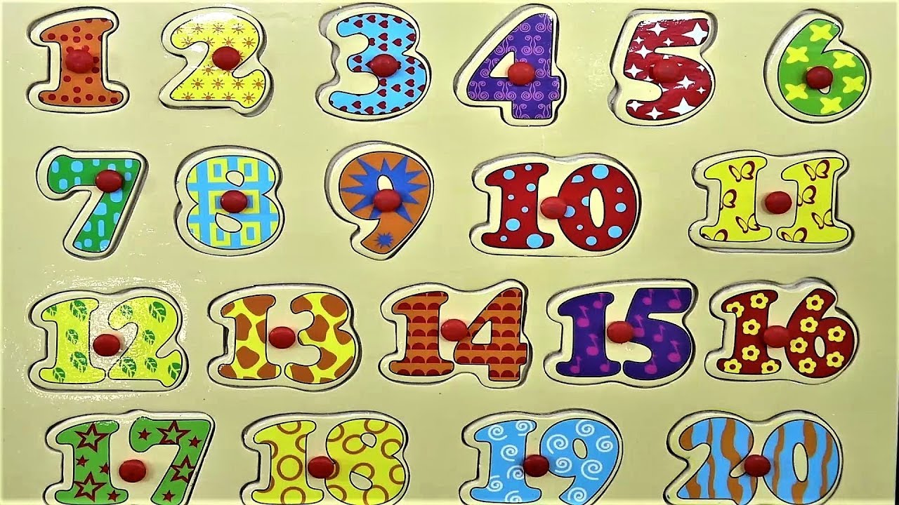 Learn 1 to 20 numbers with a wooden toy for kids #learningforkids