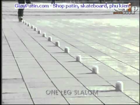 Ky thuat truot patin Slalom bằng 1 chân   YouTube