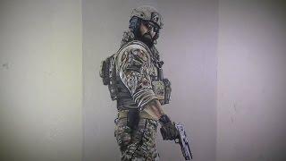 Time lapse drawing of Blackbeard (Rainbow Six Siege) - Speed Art