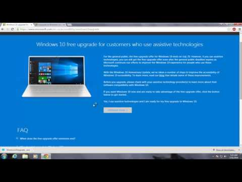 How To Upgrade To Windows 10 In 2018 - FOR FREE